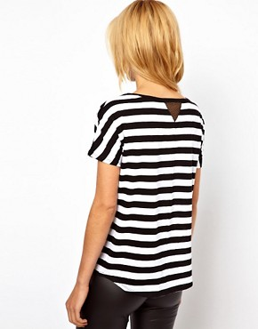 Image 2 ofMango Bold Stripe T-Shirt