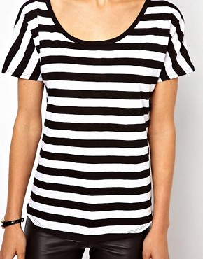 Image 3 ofMango Bold Stripe T-Shirt