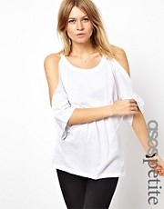 ASOS PETITE Cold Shoulder T-Shirt