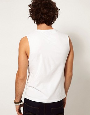 Image 2 ofASOS Sleeveless T-Shirt With Bound Scoop Neck
