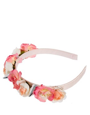 Image 2 of ASOS Flower Spike Hair Band