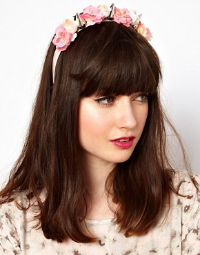 Image 1 of ASOS Flower Spike Hair Band