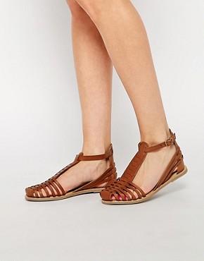 ASOS JOLIE T-Bar Leather Huarache Shoes