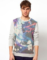River Island Oil Splash Sweat