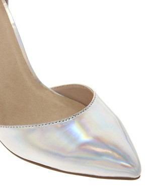Image 2 ofASOS PRIOR Metallic Pointed High Heels