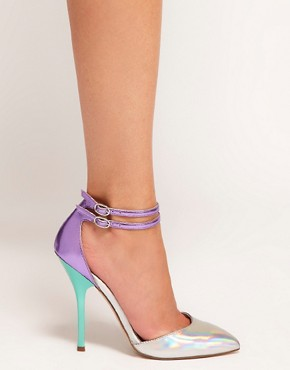 Image 3 ofASOS PRIOR Metallic Pointed High Heels