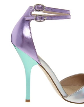 Image 4 ofASOS PRIOR Metallic Pointed High Heels