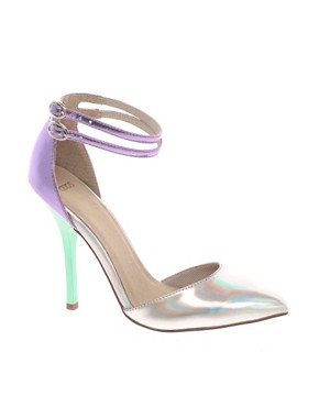 Image 1 ofASOS PRIOR Metallic Pointed High Heels