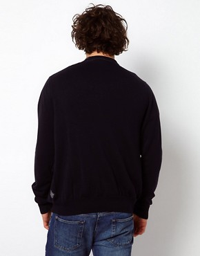 Image 2 of Paul Smith Jeans Cardigan Bomber with Zip Fastening