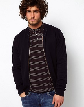 Image 1 of Paul Smith Jeans Cardigan Bomber with Zip Fastening