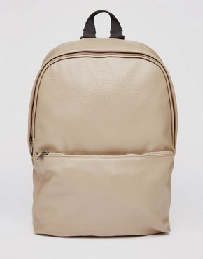 ASOS Backpack In Mink Faux Leather