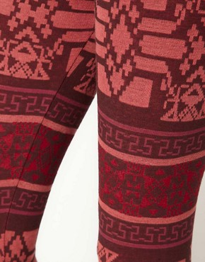 Image 3 ofRiver Island Red Aztec Print Legging