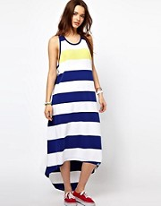 Superdry Wide Stripe Hi Lo Maxi Dress
