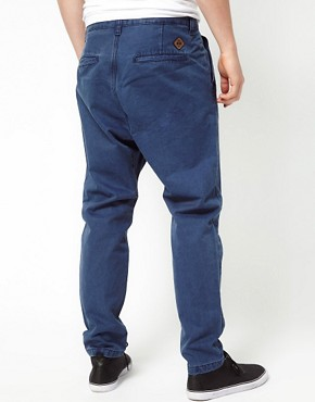 Image 2 of Revolution Drop Crotch Chinos