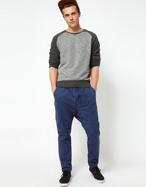 Image 4 of Revolution Drop Crotch Chinos