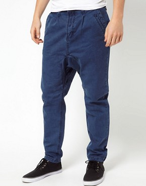 Image 1 of Revolution Drop Crotch Chinos