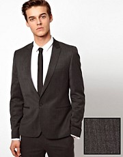 ASOS Skinny Fit Grey Suit Jacket in Wool Blend