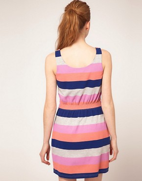 Image 2 ofVila Multi Stripe Tie Front Dress