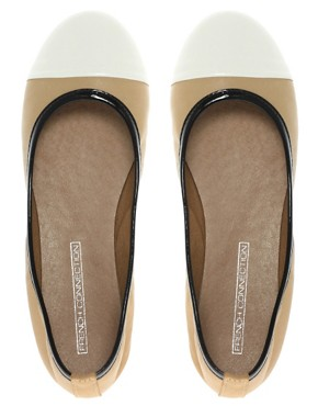 Image 3 ofFrench Connection Pompei Contrast Toe Ballet Flats