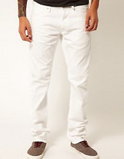 Replay Jeans Jeto Low Rise Slim Fit White Bull Denim