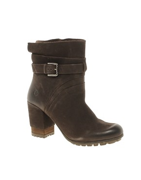 Image 1 ofBronx Leather Ankle Boot With Tread &amp; Buckle