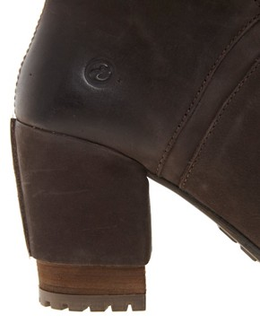 Image 4 ofBronx Leather Ankle Boot With Tread &amp; Buckle