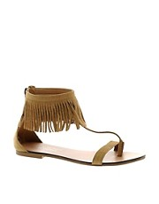River Island Suede Fringe Sandals