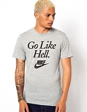 Nike T-Shirt with Running Sucks Print