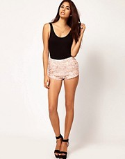 ASOS Sequin Knicker Short with Flowers