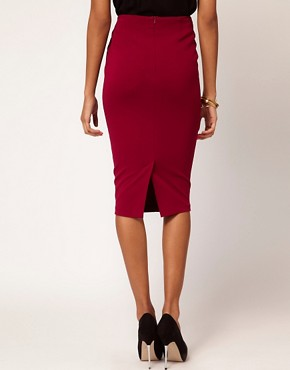 Image 2 ofASOS Ponti Pencil Skirt with Twisted Waistband