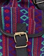 Image 2 ofASOS Aztec Backpack Bag With Leather trims