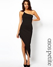 ASOS PETITE Maxi Dress With Asymmetric hem and One Shoulder