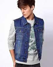 ASOS Sleeveless Denim Jacket