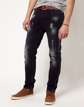 Image 1 ofASOS Slim Jean With Distressed Effect