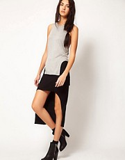 Factory By Erik Hart Jersey Skirt With Dipped Hem