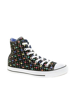 Image 1 ofConverse All Star Heart High Top Trainers