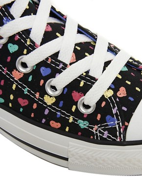 Image 2 ofConverse All Star Heart High Top Trainers