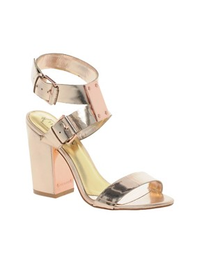 Ted Baker Lissome Metallic Strap Sandals from us.asos.com