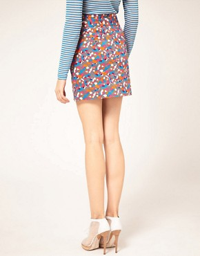 Image 2 ofVero Moda Confetti Print Button Thru Skirt