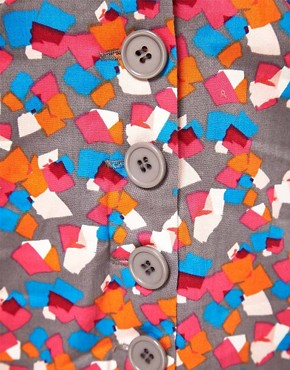 Image 3 ofVero Moda Confetti Print Button Thru Skirt