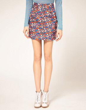 Image 4 ofVero Moda Confetti Print Button Thru Skirt