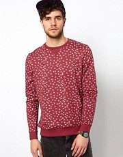 Sudadera con estampado de cruces de ASOS