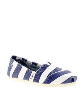 Image 1 ofTOMS Beckett Stripe Canvas Flat Shoes