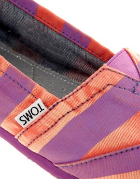 Image 2 ofTOMS Beckett Stripe Canvas Flat Shoes