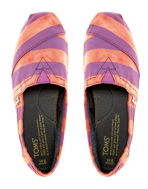 Image 3 ofTOMS Beckett Stripe Canvas Flat Shoes