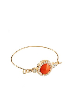 Image 1 of ASOS Stone & Pearl Bangle