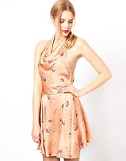 Love Printed Halterneck Dress