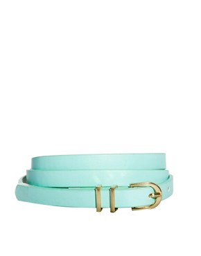 Image 1 ofASOS Metal Keeper Super Skinny Belt