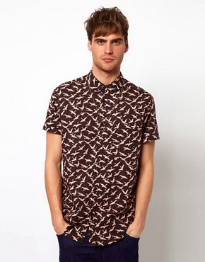 Image 1 ofRiver Island Bird Print Shirt