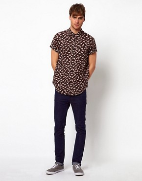 Image 4 ofRiver Island Bird Print Shirt